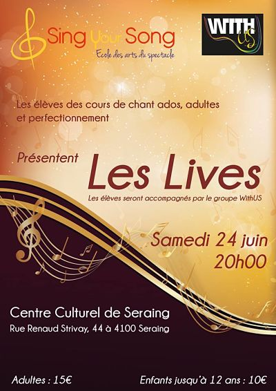 SING LES LIVES